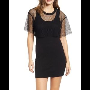 Kendall & Kilye mesh knit dress